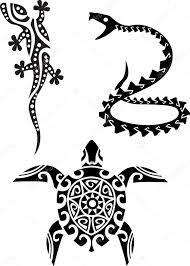 reptile tribal tattoo u2014 stock vector dagadu 6127192