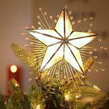 buy kurt adler 10 inch lighted 5 point capiz tree topper in