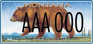 Montana Travel Symbols images Purchase a montana license plate the vital ground foundation jpg