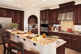 luxury kitchen features timberlake cabinets granite countertops