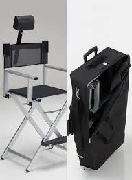 makeup stool for makeup artists aluminum makeup chair set with headrest and trolley bag makeup