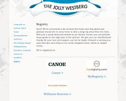 wedding website registry page on your glosite