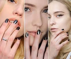 fall 2015 winter 2016 nail trends dark nails nails nails