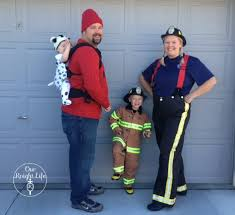 Firefighter Halloween Costume Family Themed Babywearing Halloween Costume Wordless