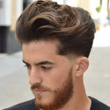feathered brush back hair medium length hairstyles for men 2018 low fade haircuts and low