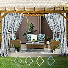 Outdoor Cabana Curtains Quatrefoil Printed Curtain Panels For Gazebo Porch