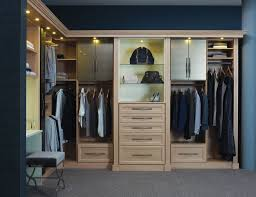 contemporary closet with interior wallpaper by california closets