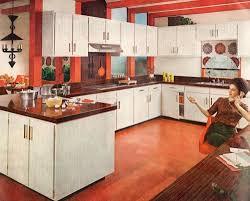 vintage kitchen design open shelves storage white top table