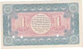 chambre de commerce chambery 1 franc 4 sept 1915 chambre de commerce chambéry specimen neuf pirot