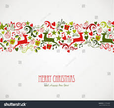 merry decorations elements seamless pattern stock vector