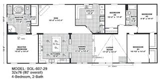 4 bedroom 2 bath mobile home floor plans mobile homes floor plans