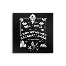 wal ouija metal print once upon a tee