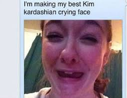 Crying Face Meme - kim kardashian crying face weknowmemes