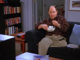 Meme Eating Popcorn - george costanza eating popcorn gifrific