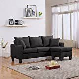 dorel living small spaces configurable sectional sofa amazon com dorel living small spaces configurable sectional sofa