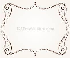 vector ornament frame illustration 123freevectors