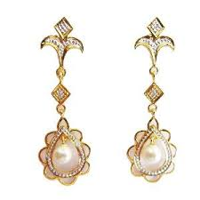 ear ring photo pearl diamond earring in 14kt by facetz earrings homeshop18