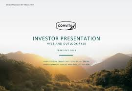 Seeking New Zealand Comvita New Zealand Ltd 2018 Q2 Results Earnings Call Slides