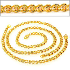 man gold necklace wholesale images Sell korean chain men woman trendy jewelry gift wholesale k real jpg