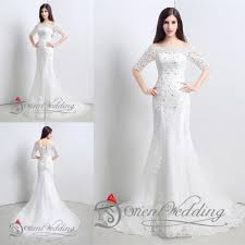 online get cheap white lace western wedding dress aliexpress com