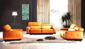Orange Leather Sofa Furniture Cool Affordable Living Room Furniture Sets Affordable