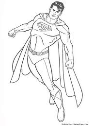 printable coloring pages of man of steel free coloring pages for