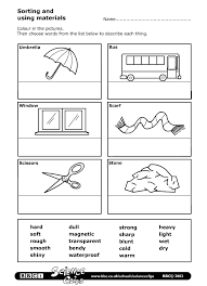 bbc schools science clips sorting and using materials worksheet