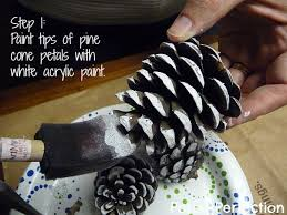 posed perfection diy snow frosted pine cones tutorial