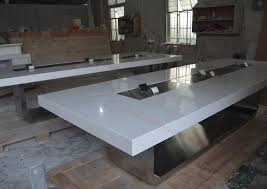 Large White Meeting Table White Lacquer Wood Office Furniture Large Meeting Conference Table