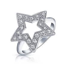 star rings silver images Patriotic sterling silver cz pave open star ring jpg