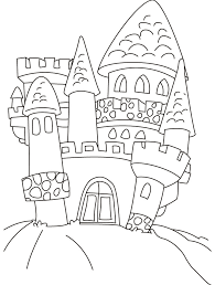 printable castle kids coloring
