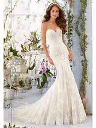 sweetheart wedding dresses 5413 lace mermaid style wedding dress with sweetheart neckline