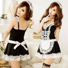 Lingerie Halloween Costumes Women Lingerie Halloween Costume French Maid Cosplay Servant Fancy