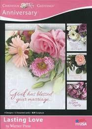 christian wedding anniversary card with kjv verse