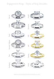 types of wedding ring types of wedding rings cuts of engagement rings 9353 set