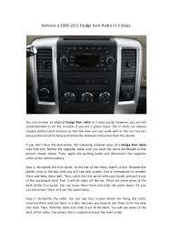 2005 Dodge Ram Navigation Radio Remove A 2009 2011 Dodge Ram Radio In 3 Steps
