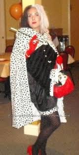 coolest homemade cruella deville child halloween costume idea