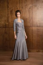 graceful sweetheart floor length silver satin mother of the bride