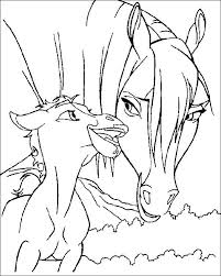 coloring sheets of a horse spirit horse coloring pages 20770