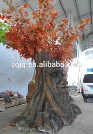 shape talking tree with and branch moving made of