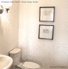 bathroom wall stencil ideas 249 best stenciled walls images on wall stenciling