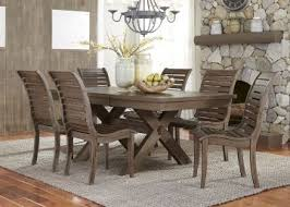 liberty furniture bayside crossing 7pc trestle dining set in