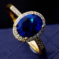 stone rings jewelry images 2014 new classic design 18k gold plated high quality fashion blue jpg