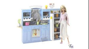 barbie kitchen set youtube