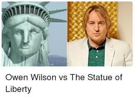 Owen Wilson Meme - ice owen wilson vs the statue of liberty funny meme on esmemes com