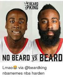 No Beard Meme - beard yking no beard beard lmao via nbamemes nba harden