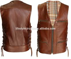 biker vest biker leather waistcoat men leather biker vest leather vest