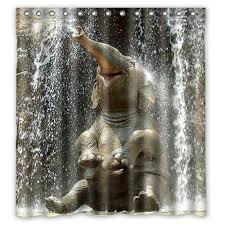 custom cute animal elephant shower curtain 180x180cm waterproof