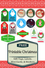 free printable christmas gift tags labels stickers u0026 mini cards