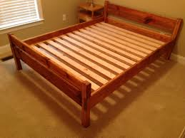 queen size bed frame design plans home design ideas